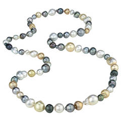 Tonga 42 Inch Tahitian South Sea Pearl Necklace