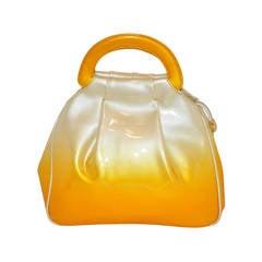 "Roberto di Camerino Patent Leather ""Sunset"" Three-Sectional Handbag"