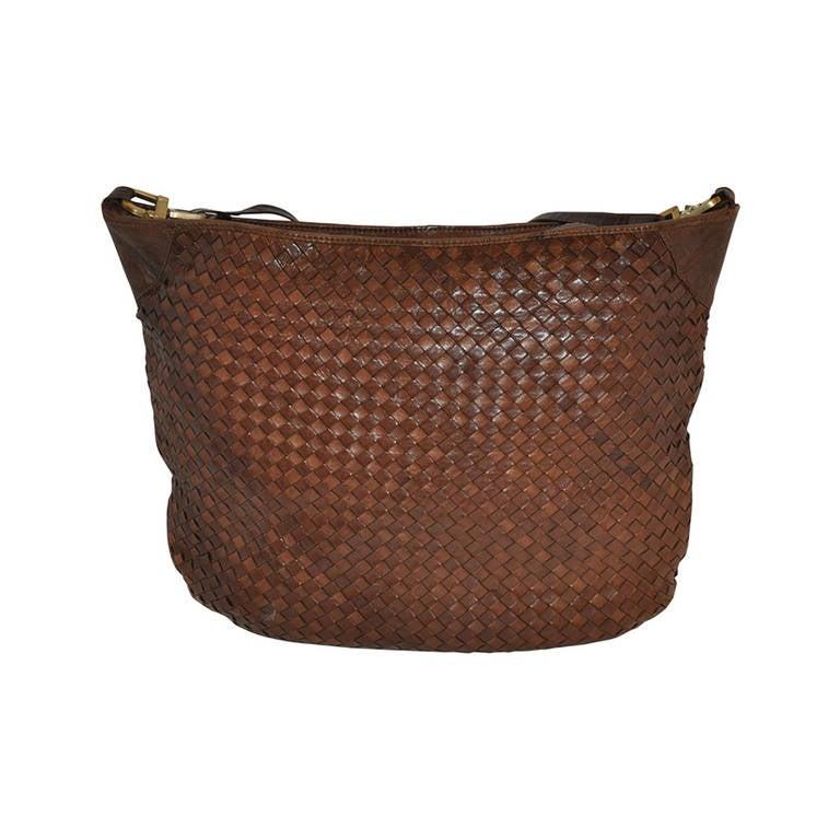 a79b85a3bca7 Bottega Veneta Huge Signature Woven Lambskin Weekender Shoulder Bag For Sale