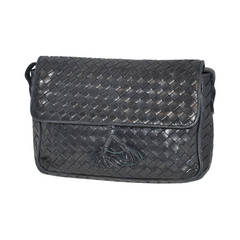 Bottega Veneta Signature Woven Lambskin with Tassles Clutch/ Shoulder Bag