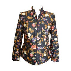 Giuliana Cella Milan Embroidered Black Silk Jacket