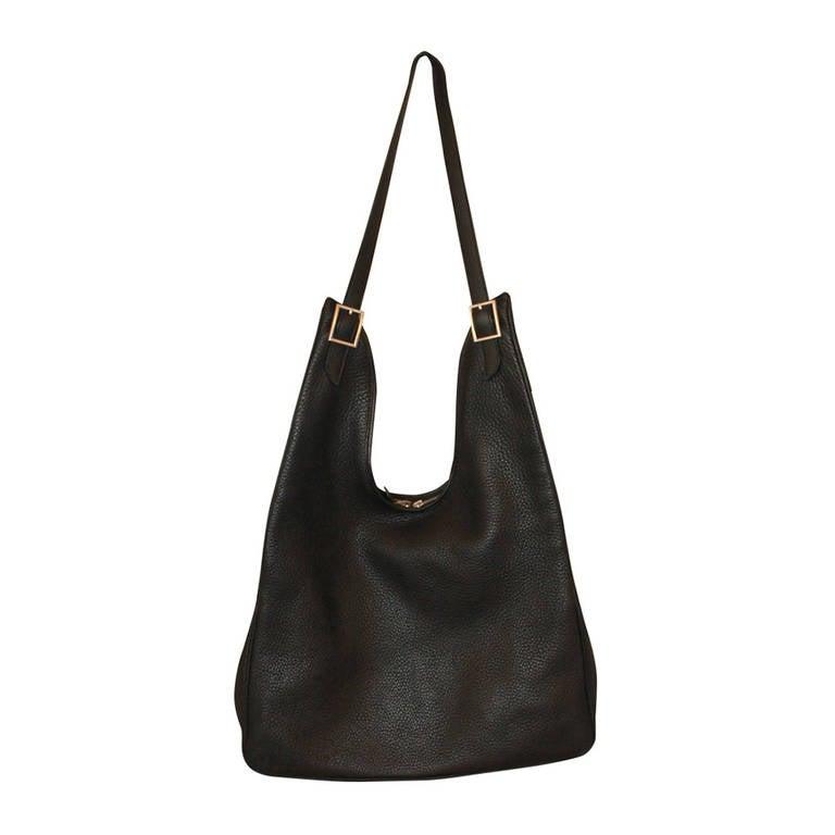 Hermes Black Massai Handbag - PM at 1stdibs