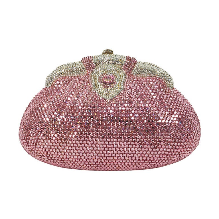 Pink crystal evening bag Finesse la Model 1