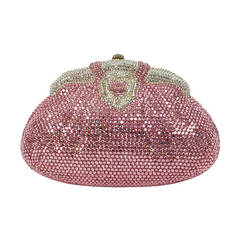 Pink crystal evening bag Finesse la Model