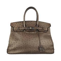 Hermes 35 Cm Ostrich Handbag