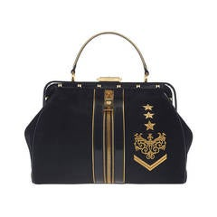 New VERSACE Zippered Doctor Bag