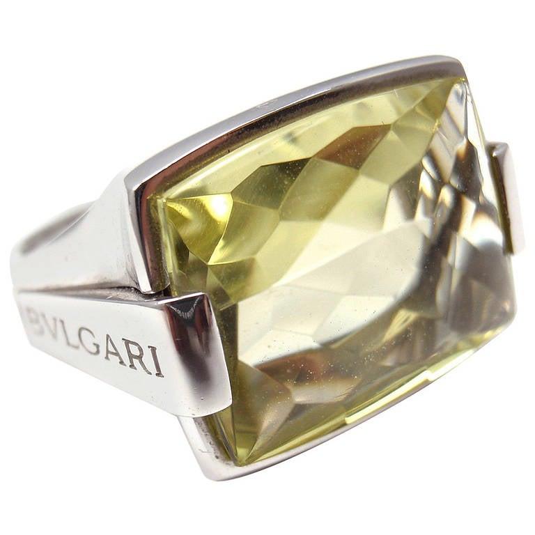 bulgari metropolis citrine white gold ring at 1stdibs