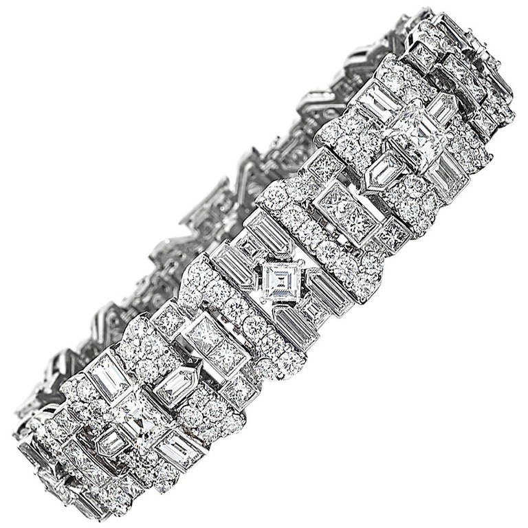 Extraordinary Diamond Platinum Bracelet 1