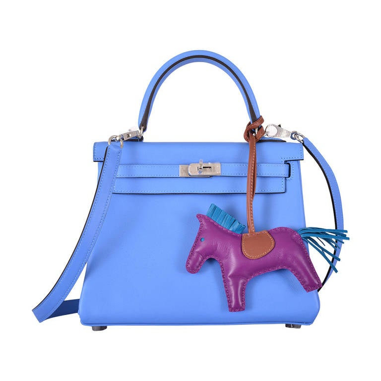 best hermes birkin color - HERMES KELLY 28cm KELLY BLUE PARADISE TOGO JaneFinds at 1stdibs