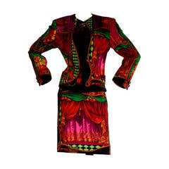 Extremely Rare Vintage Gianni Versace Couture Pre-Death Theater Baroque Suit