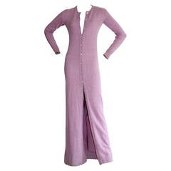 Vintage Halston Lilac Purple Cashmere Cardigan Dress