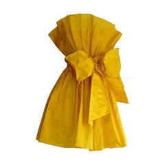 James Purcell Stunning Vintage Origami Fan Dress