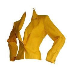 Vintage YSL Jacket Yves Saint Laurent Rive Gauche Bright Yellow Blazer