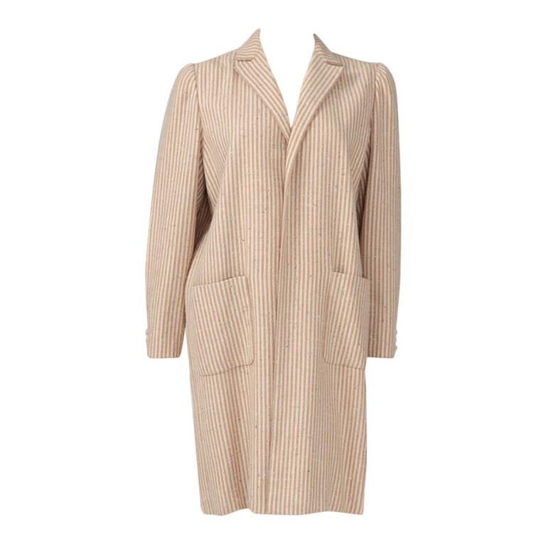 Valentino Haute Couture Pin-Striped Open Coat