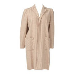 Valentino Haute Couture Pin-Striped Open Coat