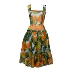 DOLCE & GABBANA Vegetable  Collection Runway Dress  42 NEW