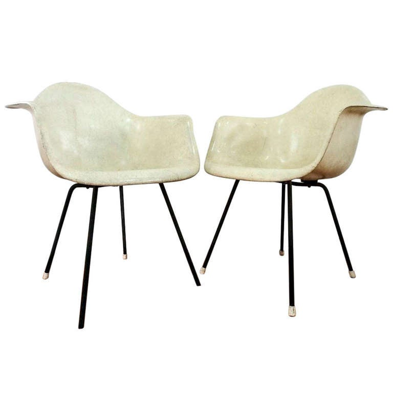 Two Rope Edge Herman Miller and Charles Eames 'Zenith' Armchairs