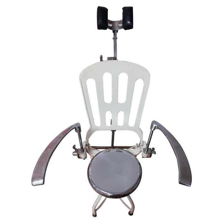 Antique 1920s Art Deco Industrial Metal Dental Chair For Sale  sc 1 st  1stDibs & Antique 1920s Art Deco Industrial Metal Dental Chair at 1stdibs