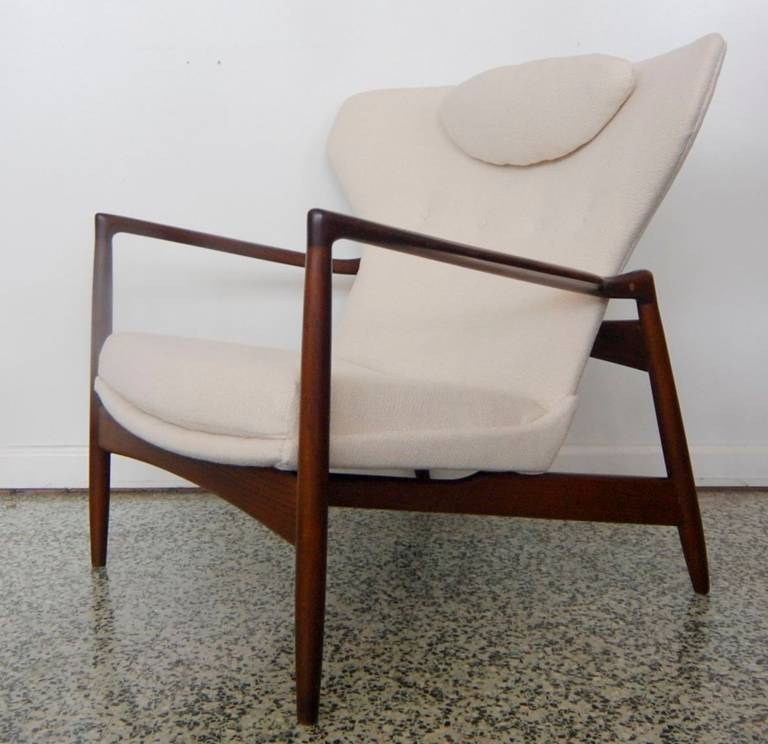 A Rare Danish Lounge Chair By Ib Kofod Larsen For Selig, Denmark  Wing