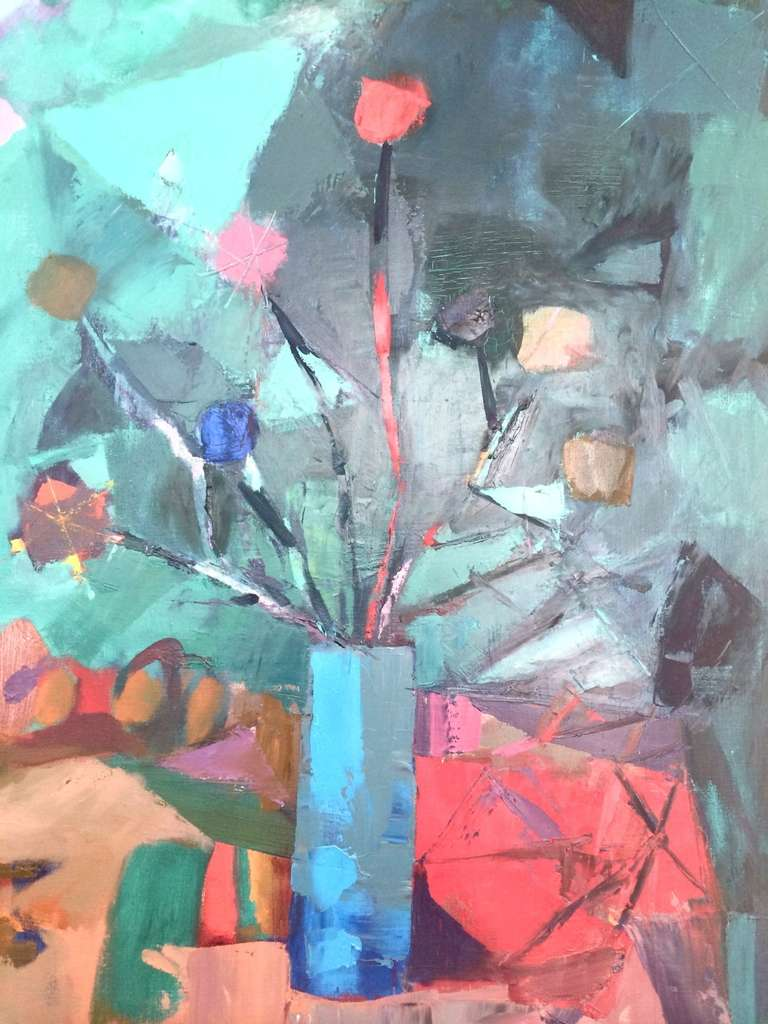 Impressive Large Mid-Century Abstract Painting by Miquel Ibarz In Excellent Condition For Sale In St. Louis, MO