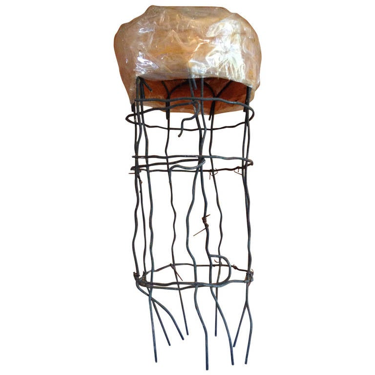 Untitled Wire Sculpture Stool by Susan Eisler For Sale