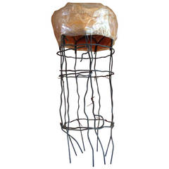 Untitled Wire Sculpture Stool by Susan Eisler