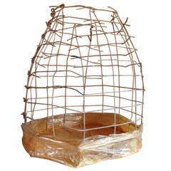Wire Basket Cage Sculpture by Susan Eisler
