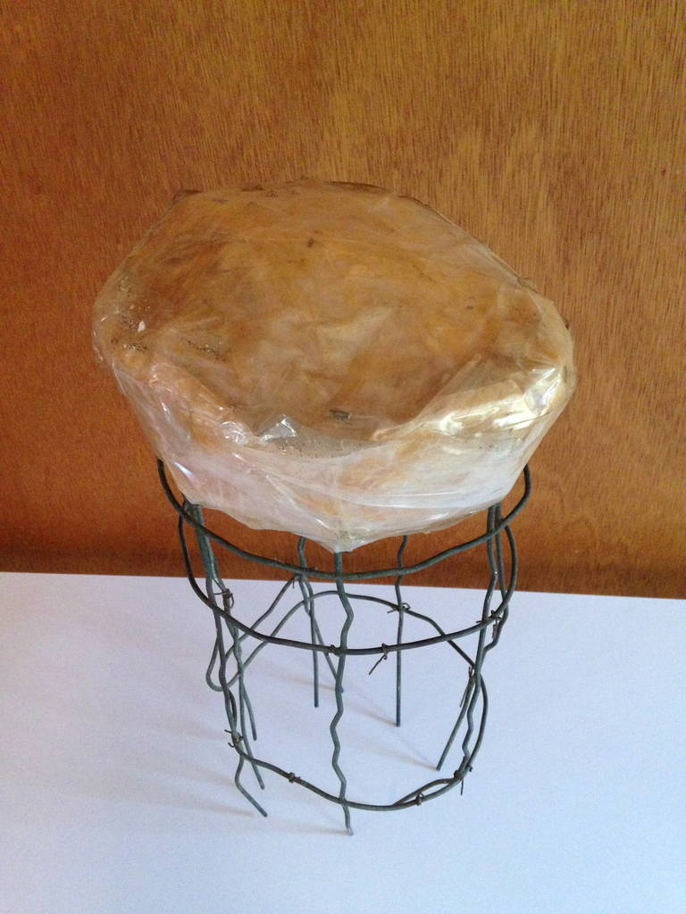 Late 20th Century Untitled Wire Sculpture Stool by Susan Eisler For Sale