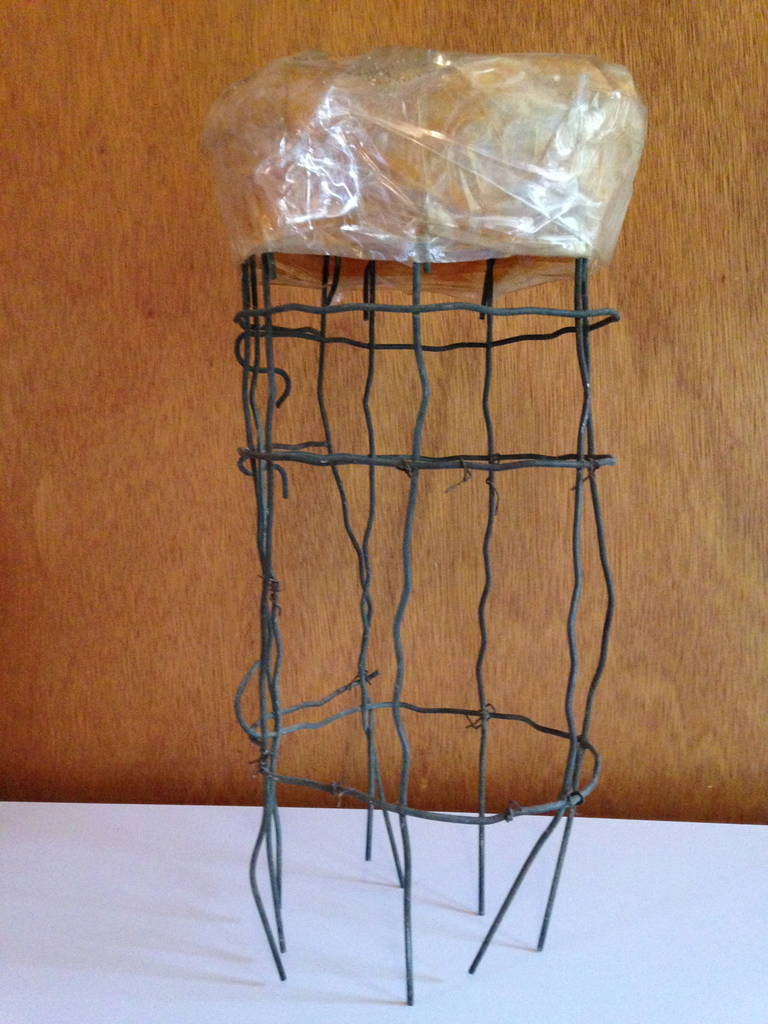Metal Untitled Wire Sculpture Stool by Susan Eisler For Sale