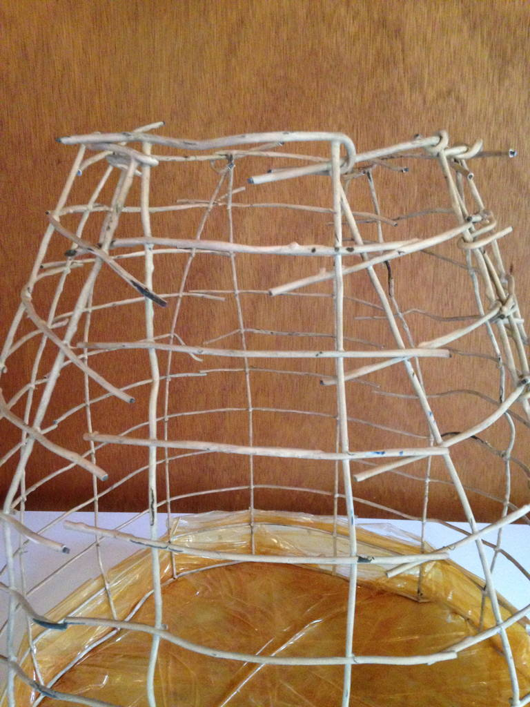 Wire Basket Cage Sculpture by Susan Eisler 3