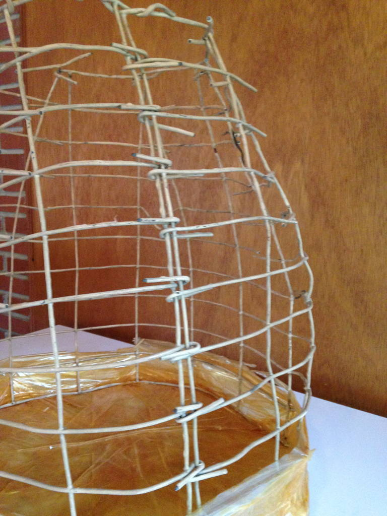 Wire Basket Cage Sculpture by Susan Eisler 4