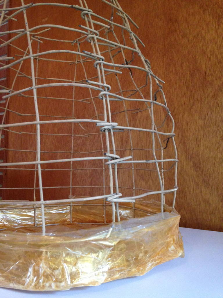 Wire Basket Cage Sculpture by Susan Eisler 5