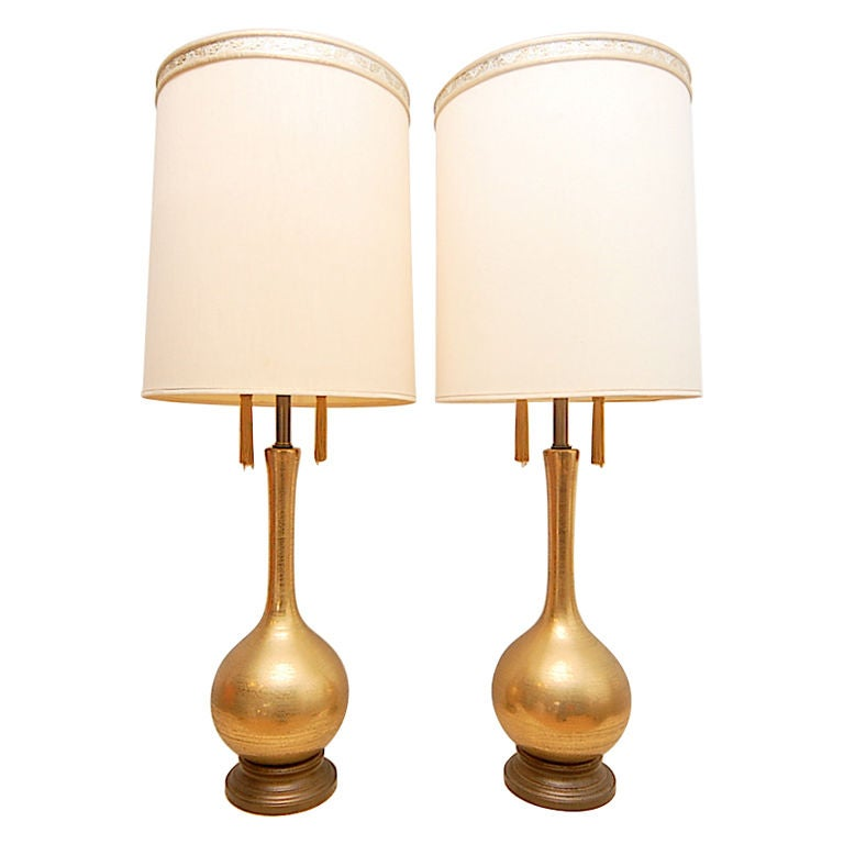 Hollywood Regency Glam Gold Tassel Table Lamps 1 - Hollywood Regency Glam Gold Tassel Table Lamps At 1stdibs