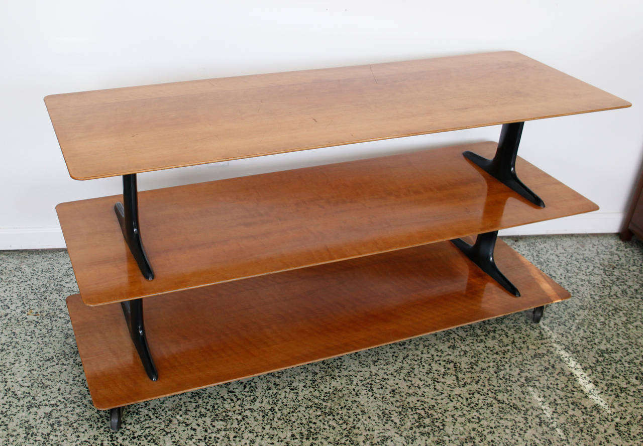Unique Three Tier Mid Century Sofa Or Console Table At 1stdibs