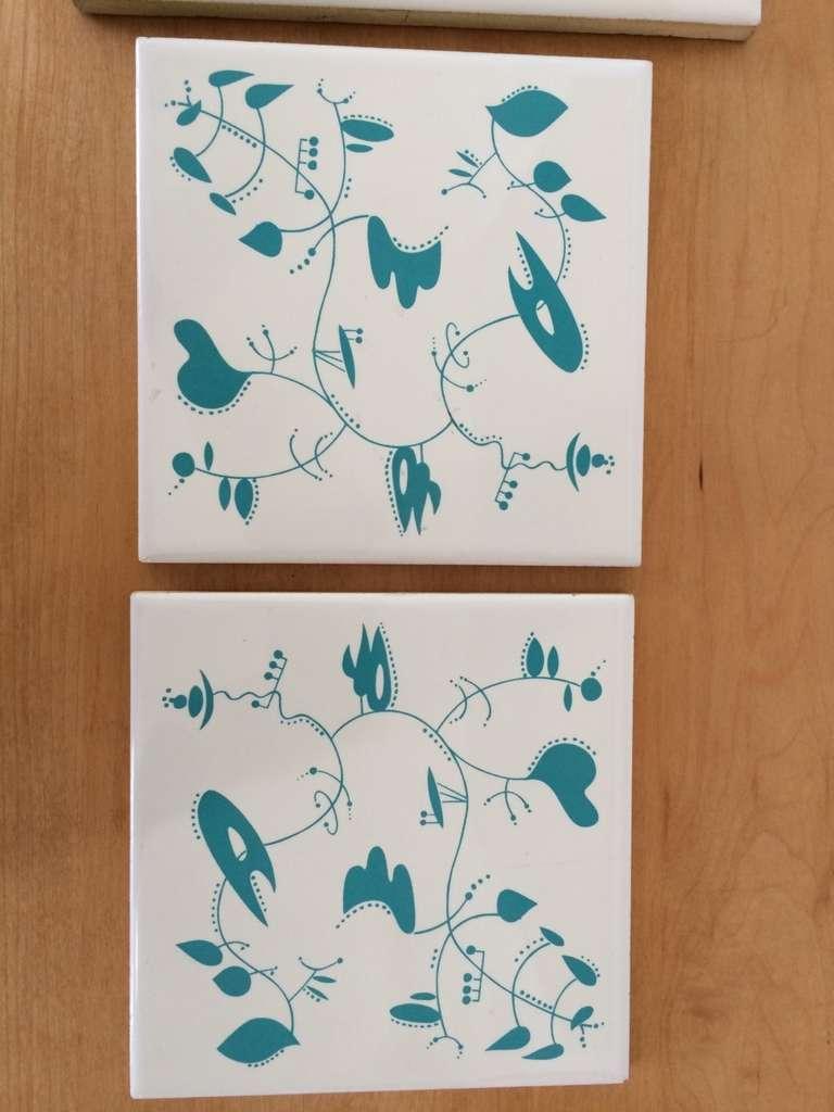 Spanish Ceramic Tiles inspired by the work of Alexander Calder For Sale