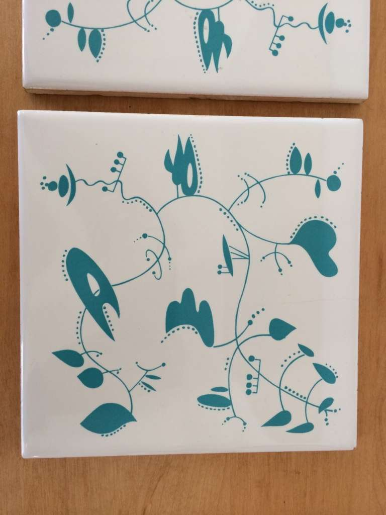 Ceramic Tiles inspired by the work of Alexander Calder In Excellent Condition For Sale In St. Louis, MO