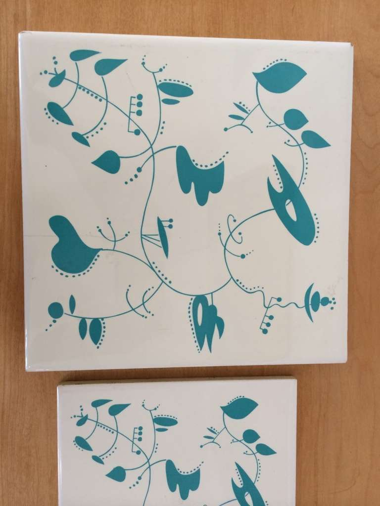 Mid-20th Century Ceramic Tiles inspired by the work of Alexander Calder For Sale