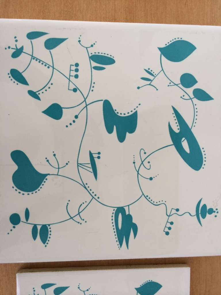 Ceramic Tiles inspired by the work of Alexander Calder For Sale 1
