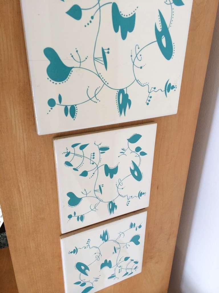Ceramic Tiles inspired by the work of Alexander Calder For Sale 2