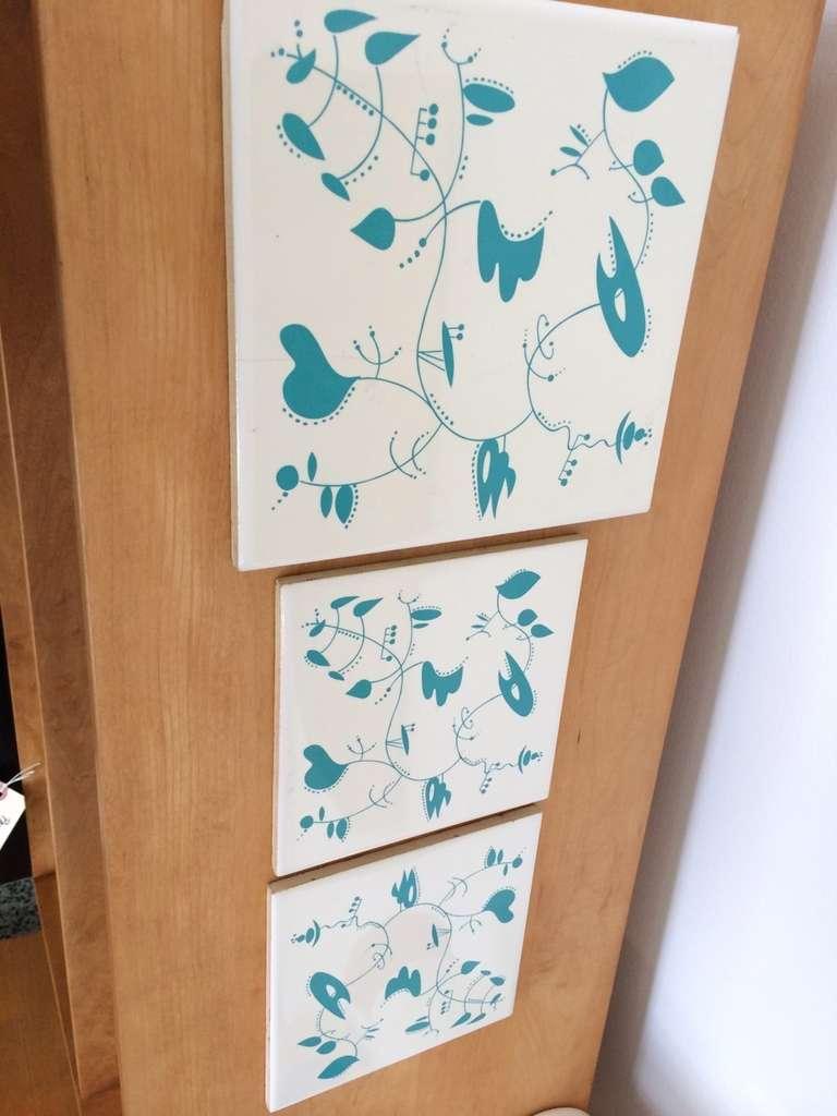 Ceramic Tiles inspired by the work of Alexander Calder For Sale 3