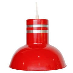 Industrial Lightolier Red Light Fixture