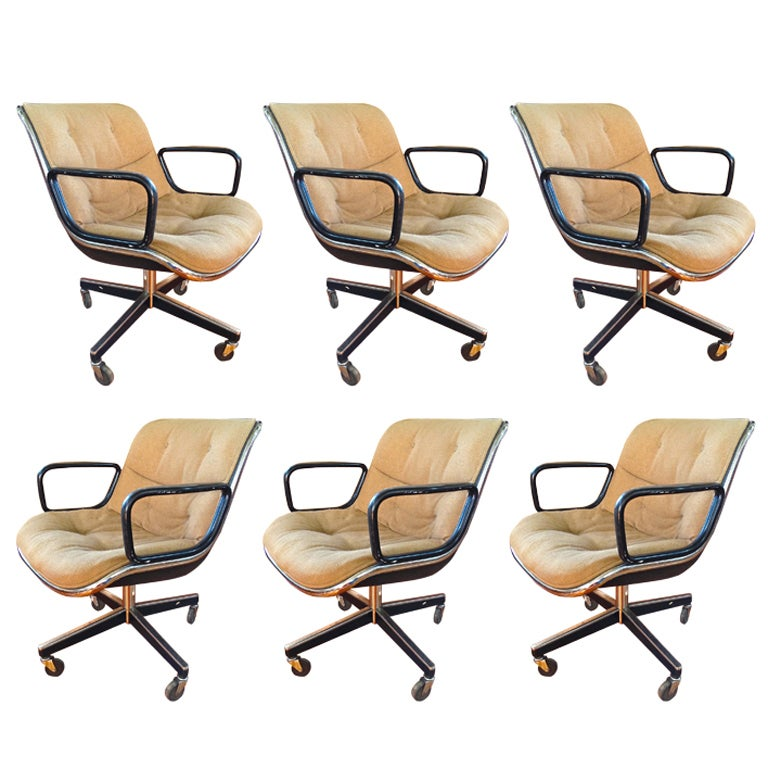 6 charles pollack for knoll executive office chairs at 1stdibs