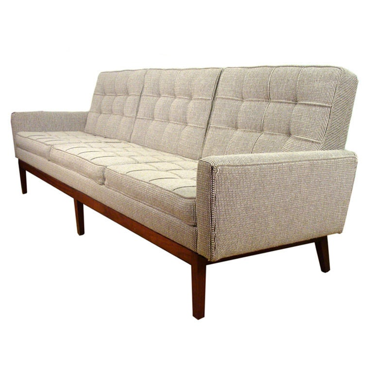 early florence knoll sofa for knoll mid century at 1stdibs. Black Bedroom Furniture Sets. Home Design Ideas