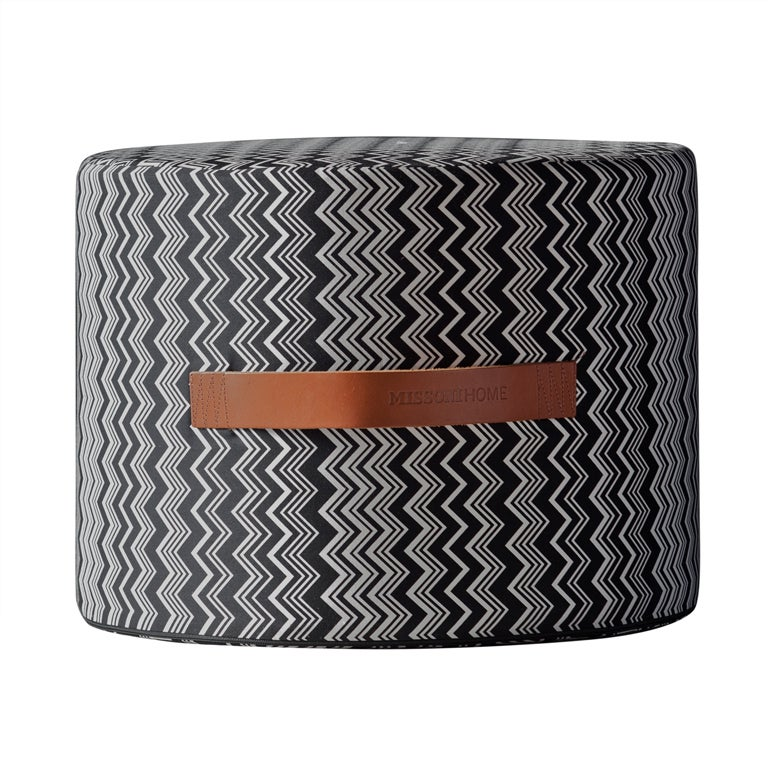 """Missoni Home Furniture London: Missoni Home """"Tobago"""" Cylindrical Pouf At 1stdibs"""