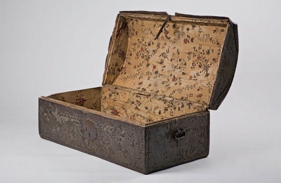 18th Century Colonial Leather Trunk image 3