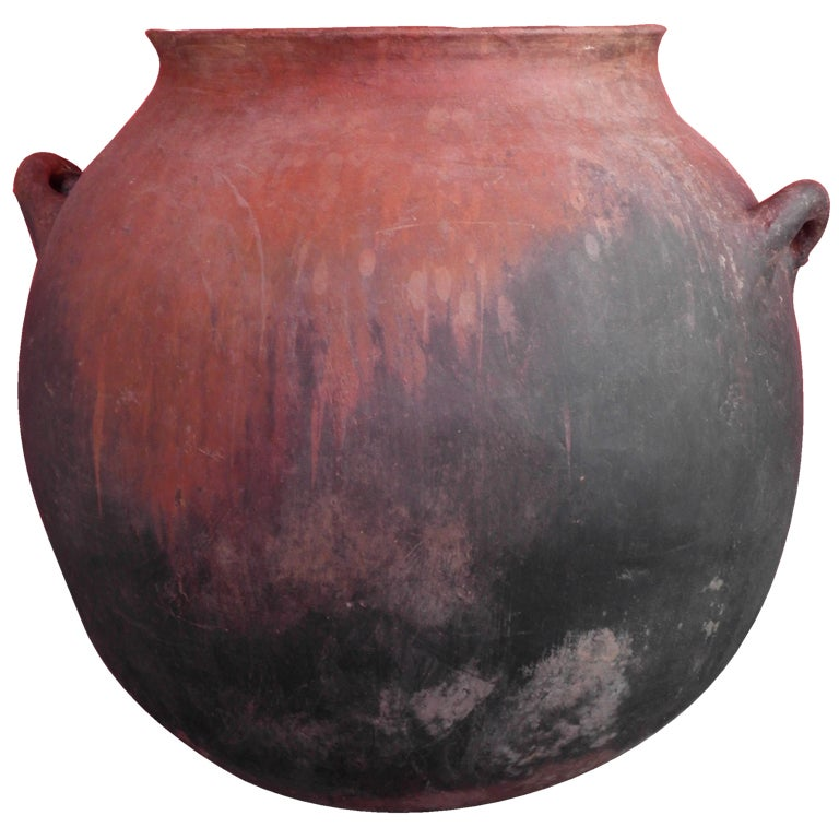 Monumental Mexican Earthenware Cooking Pot at 1stdibs
