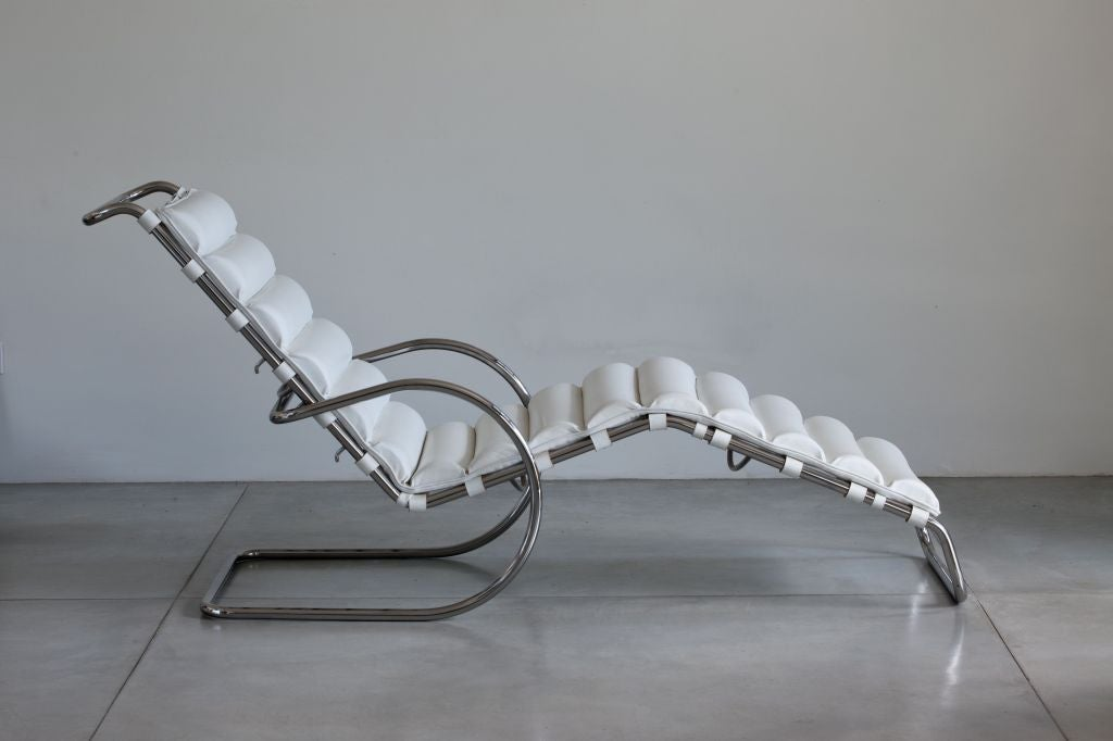 Mies van der Rohe MR Chaise Longue For Knoll at 1stdibs