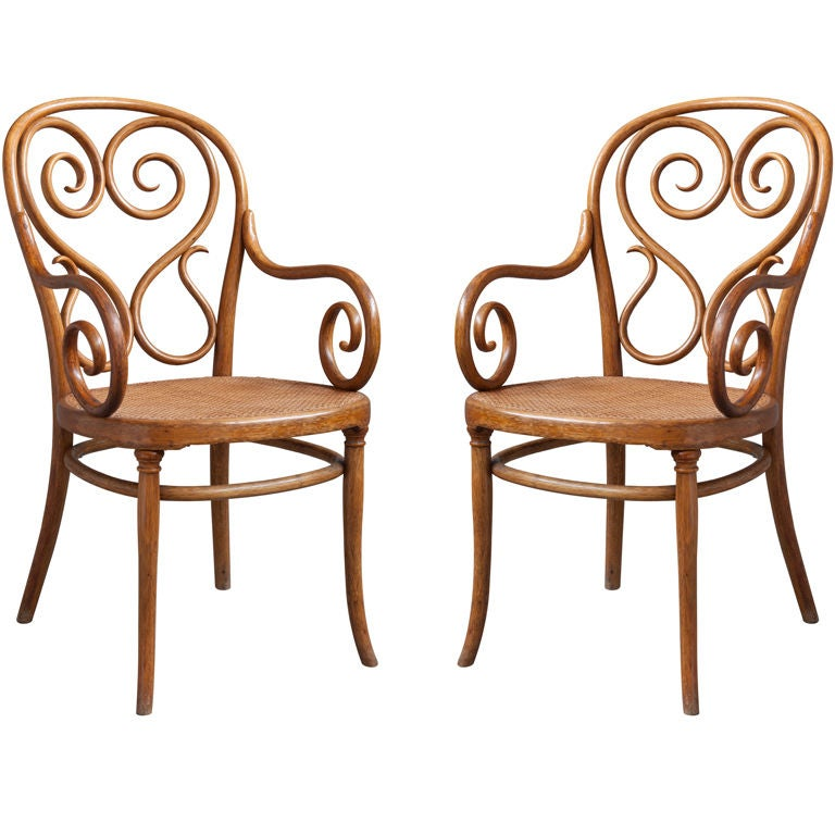 Rare And Early Michael Thonet Armchairs At 1stdibs