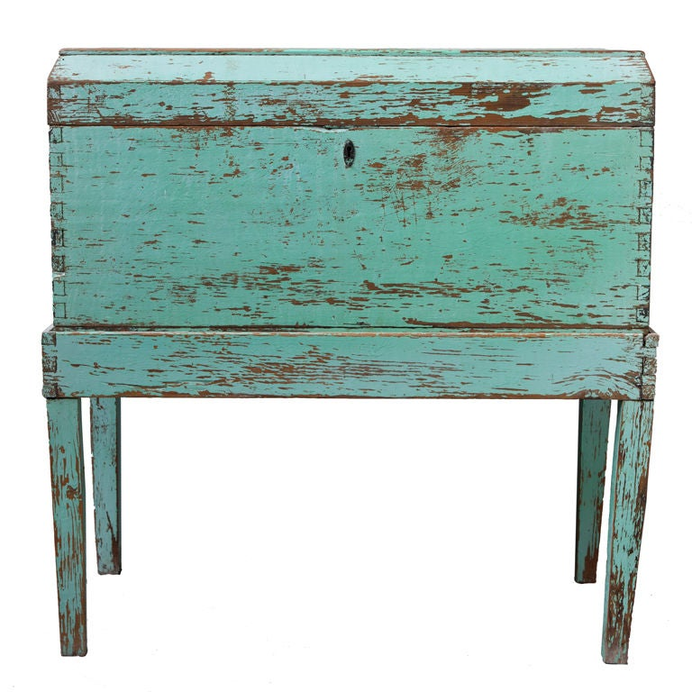 Mexican Painted Pine Blanket Chest at 1stdibs