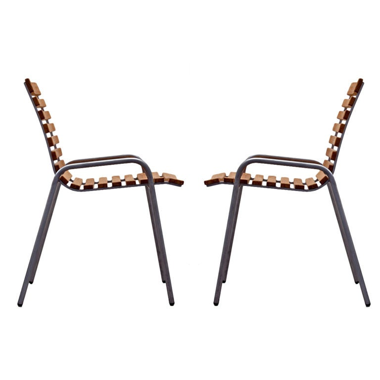 Pair Of Robin Day Garden Chairs For Lister At 1stdibs